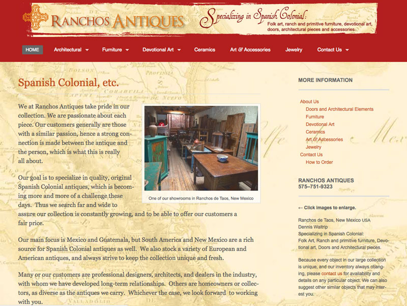 <strong>Ranchos Antiques</strong> | web site & photography